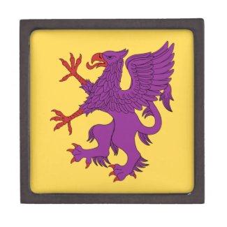 Griffin Rampant Purpure Jewelry Box