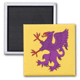 Griffin Rampant Purpure Magnet