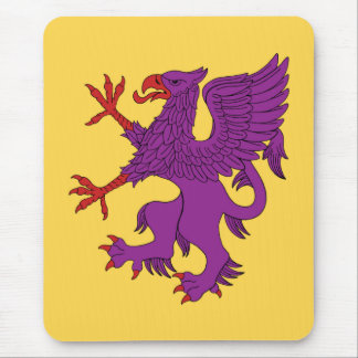 Griffin Rampant Purpure Mouse Pad