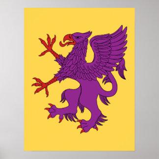 Griffin Rampant Purpure Poster