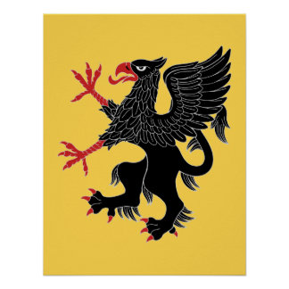 Griffin Rampant Sable Poster