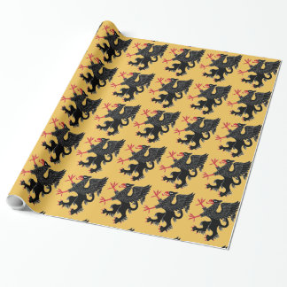 Griffin Rampant Sable Wrapping Paper