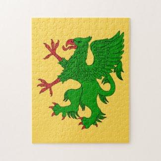 Griffin Rampant Vert Jigsaw Puzzle