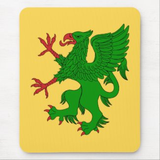 Griffin Rampant Vert Mouse Pad