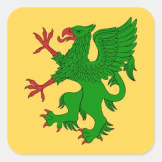 Griffin Rampant Vert Square Sticker