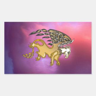 Griffin Rectangular Sticker