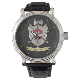 Griffin Sigil Battle Crest Surname Wristwatch