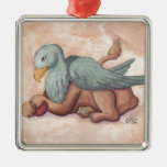 Griffin Square Metal Christmas Ornament