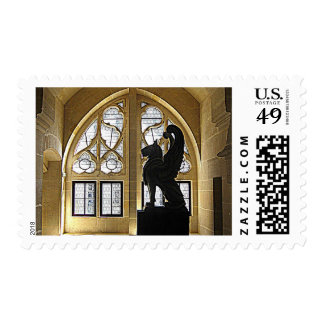 Griffin statue in Chateau de Pierrefonds Stamps