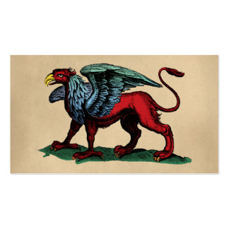 Griffin Vintage Illustration Double-Sided Standard Business Cards (Pack Of 100)