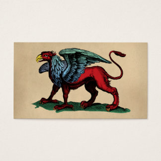 Griffin Vintage Illustration Business Card