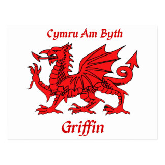 Griffin Welsh Dragon Post Card