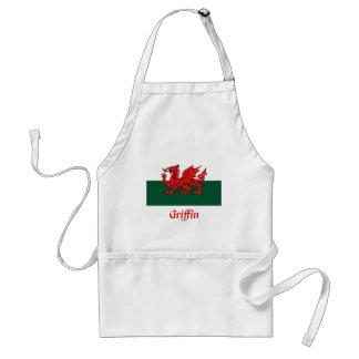 Griffin Welsh Flag Adult Apron