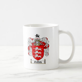 GRIFFITH FAMILY CREST -  GRIFFITH COAT OF ARMS CLASSIC WHITE COFFEE MUG
