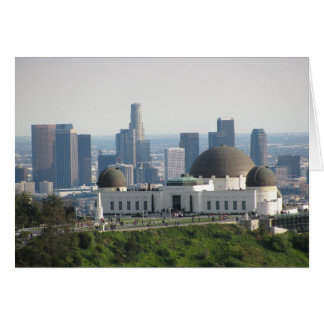 Griffith Observatory and Downtown Los Angeles Card