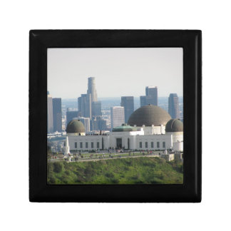 Griffith Observatory and Downtown Los Angeles Keepsake Box