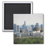 Griffith Observatory and Downtown Los Angeles Refrigerator Magnet