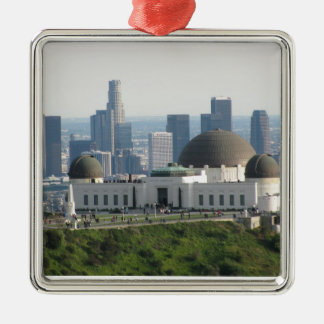 Griffith Observatory and Downtown Los Angeles Metal Ornament