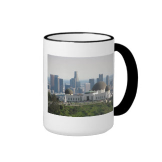 Griffith Observatory and Downtown Los Angeles Ringer Coffee Mug