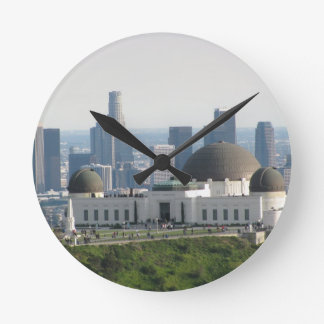 Griffith Observatory and Downtown Los Angeles Round Clock