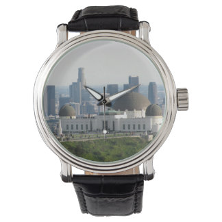 Griffith Observatory and Downtown Los Angeles Wrist Watch