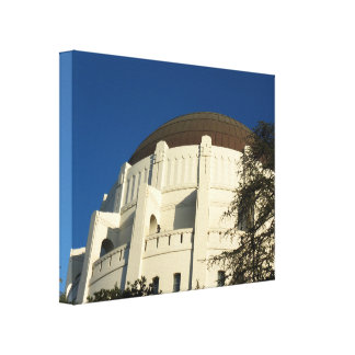 Griffith Observatory Close Up Canvas Print