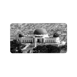 Griffith Observatory Personalized Address Label
