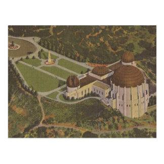 Griffith Observatory Wedding Escort Card Postcard