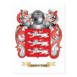 Griffiths Coat of Arms (Family Crest) Postcard