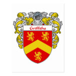 Griffiths Coat of Arms (Mantled) Postcard