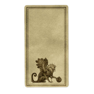 Griffon Apothecary Label Shipping Label