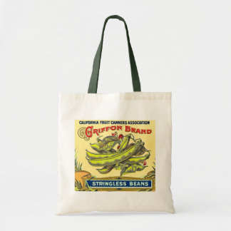Griffon Brand Stringless Beans - Vintage Label Tote Bag