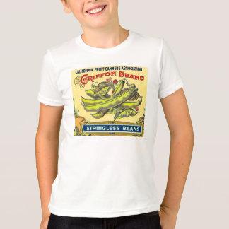 Griffon Brand Vintage Crate Label Stringless Beans T-Shirt