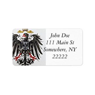 Griffon Coat of Arms Custom Address Label