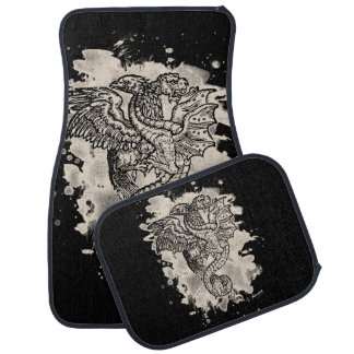 Griffon & Dragon bleached white Car Floor Mat