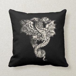 Griffon & Dragon Throw Pillow
