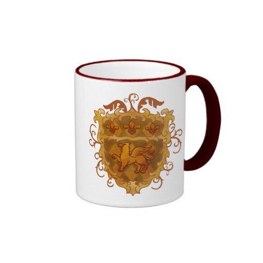 Griffon Shield Ringer Coffee Mug