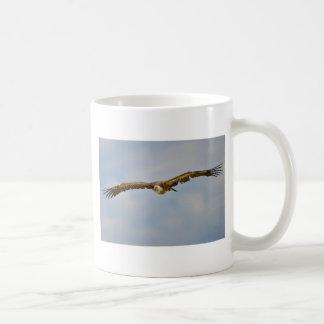 Griffon vulture in flight coffee mug