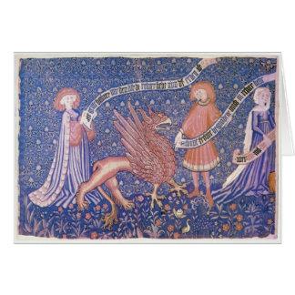Grifo medieval felicitación
