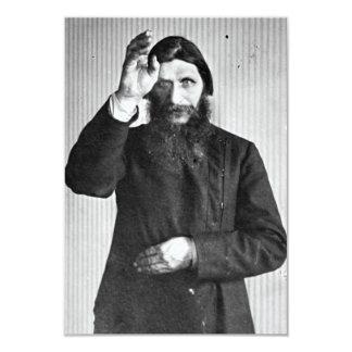 "Grigori místico ruso Yefimovich Rasputin Invitación 3.5"" X 5"""