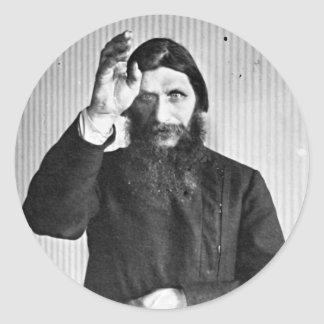 Grigori místico ruso Yefimovich Rasputin Pegatina Redonda