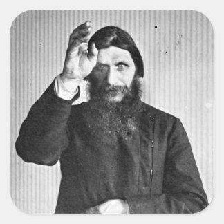 Grigori místico ruso Yefimovich Rasputin Pegatina Cuadradas Personalizadas
