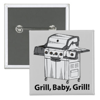 Grill, Baby, Grill! Button