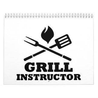 Grill BBQ Instructor Calendar