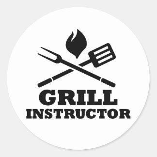 Grill BBQ Instructor Sticker