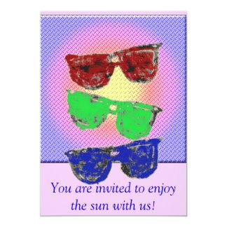 grill, coloredsunglasses, You are invited to en... 5x7 Paper Invitation Card