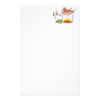 Grill crickets barbecue BBQ Customized Stationery