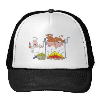 Grill crickets barbecue BBQ Mesh Hats