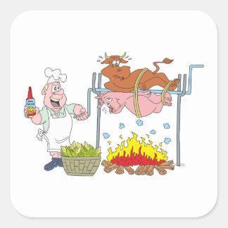 Grill crickets barbecue BBQ Square Sticker