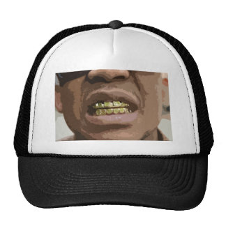 Grill Face #2-- T-Shirt Hats
